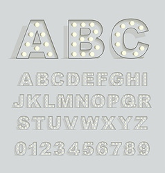 Font with lamps vector