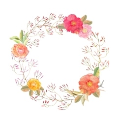 flowers wreath  Elegant floral collection vector image