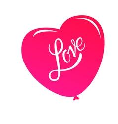 Calligraphic lettering love inscription vector