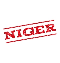Niger watermark stamp vector