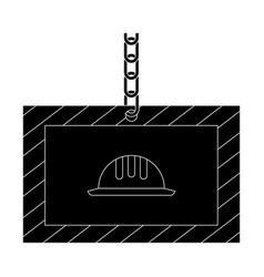 construction information label icon vector image