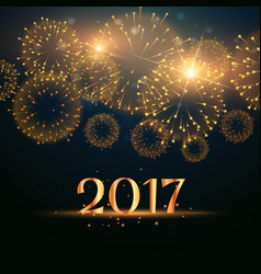 2017 new year fireworks celebration background vector
