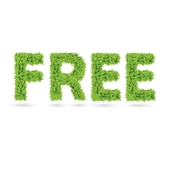 Free text of green leaves vector