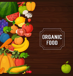 Colorful fruits and vegetables banners vector