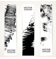 Abstrac black ink banner set vector image