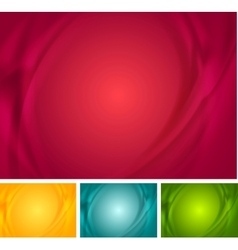 Abstract bright wavy backgrounds vector