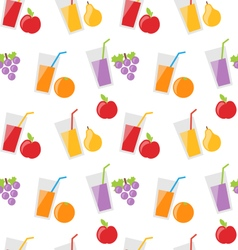 Seamless pattern with different fresh fruit juices vector