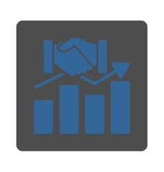 Acquisition graph icon vector