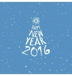 Happy new year blue greeting card template vector