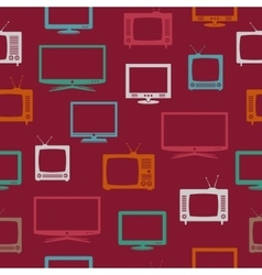 Seamless pattern with tv set vector
