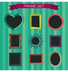 Photo frames in flat style vector