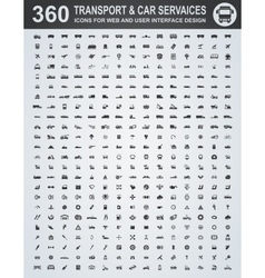 Transport and car services icons vector