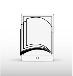 E-book download design vector