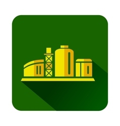 Chemical plant icon flat style vector