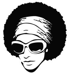 Afro hair pop art vector
