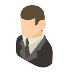 banker icon isometric 3d style vector image