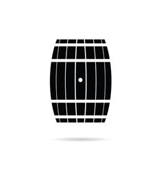 Barrel in black vector