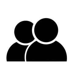 black silhouette people vector image