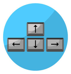 Button arrow game keyboard vector image