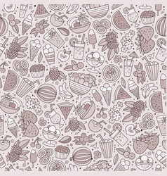 Cartoon summer time seamless pattern vector