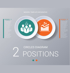 Circles diagram elements template infographics 2 vector