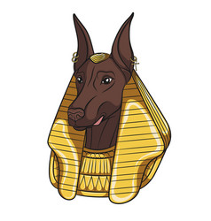 Color image anubis vector