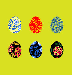 colorful happy easter greeting with vector image