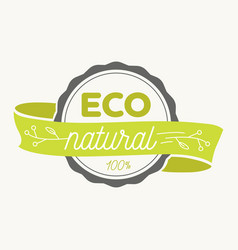 Eco icon label organic tags natural product vector