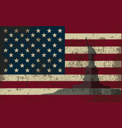 flag of the united states of america and the vector image vector image