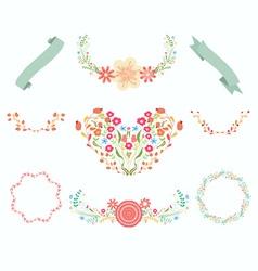 Floral wreaths chalkboard victorian vector image