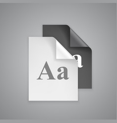 font choices on paper vector image vector image