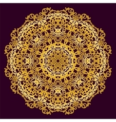 Gold circular pattern vector image vector image