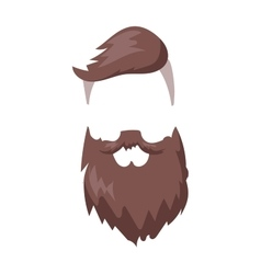 Hipster fashion men fashion hair and beard vector