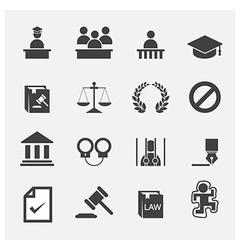 law icon vector image vector image