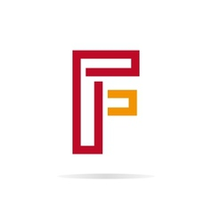 Logo F letter for company design template vector image vector image