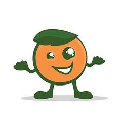 Orange Character vector image