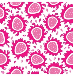 Organic background strawberries seamless pattern vector image vector image