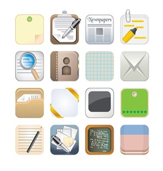 Paper app icon set vector
