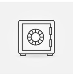 Safe outline icon vector image vector image