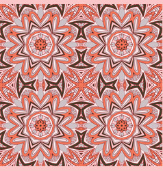 Seamless doodle pattern ethnic motives grey and vector