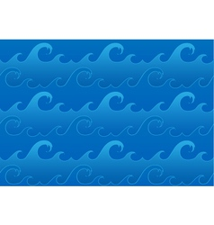 seamless ocean waves pattern vector image vector image