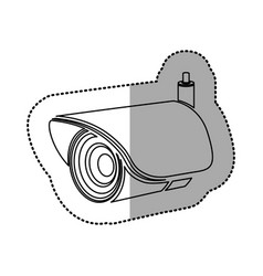 Silhouette exterior video camera icon vector