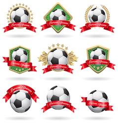 Soccer labels set vector