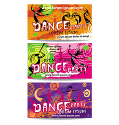 Templates of dance party flyers vector