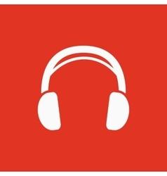 The headphone icon Sound symbol Flat vector image vector image