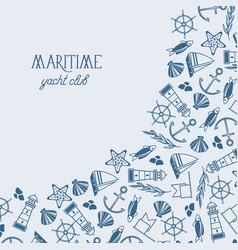 vintage maritime design background vector image vector image