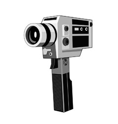 Vintage video camera retro vector