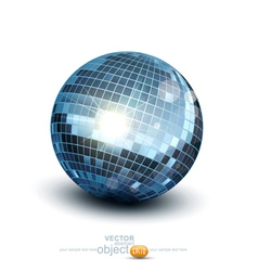 Disco ball on a white background vector