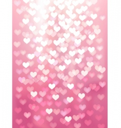 defocused lights in heart shape vector image