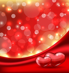 Valentines card with beautiful hearts vector image